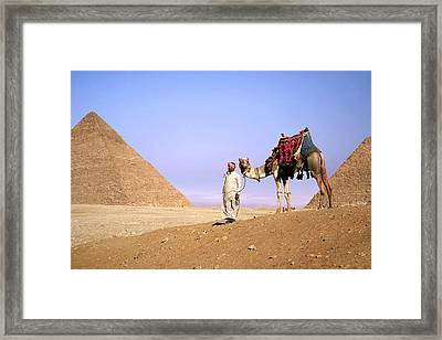 Egypt, Cairo, Giza, A Proud Egyptian Framed Print by Miva Stock
