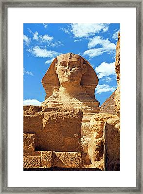 Egypt, Cairo, Giza, The Sphinx Framed Print by Miva Stock
