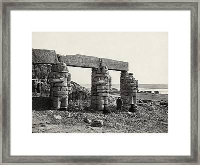 Egypt Gerf Hussein Temple Framed Print