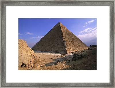 Egypt. Giza. Giza. Khafres Pyramid Framed Print by Everett