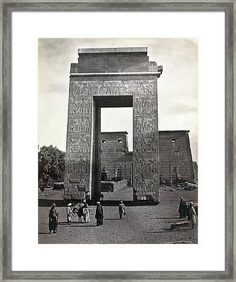 Egypt Karnak Framed Print by Granger