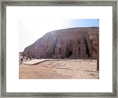 Egypt Masculin Temple Framed Print