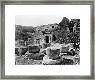 Egypt Medinet Habu Framed Print