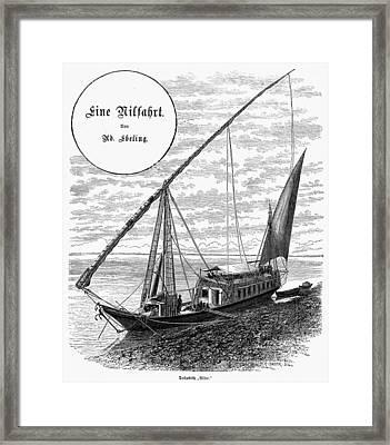Egypt Nile Cruise, 1880s Framed Print by Granger