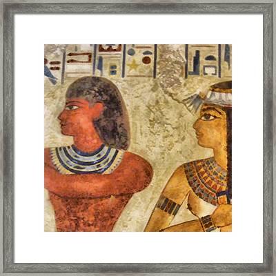 Framed Print featuring the painting Egypt Pharaohs by Georgi Dimitrov