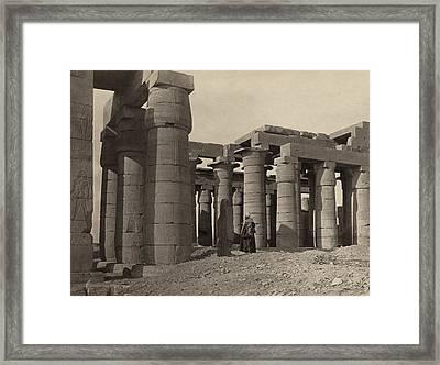 Egypt Ramesseum, 1860 Framed Print by Granger