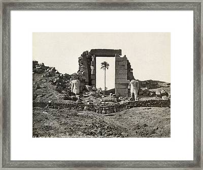 Egypt Temple Of Amenophis Framed Print