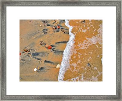 Egypt Texture. Red Sea.  Framed Print by Andy Za