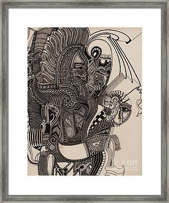 Egypt Walking Framed Print