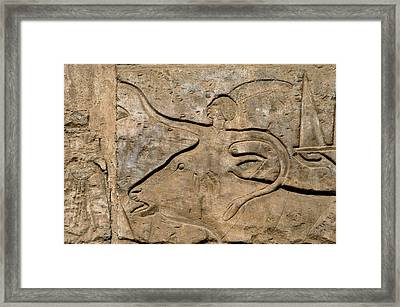 Egyptian Art Egypt Relief Framed Print