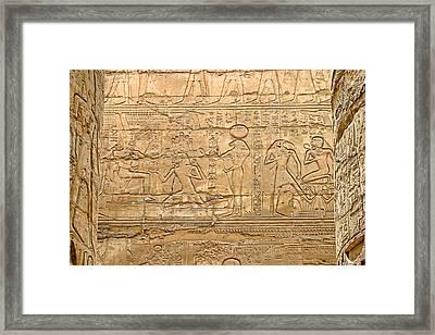 Egyptian Art With Heiorpglyics Framed Print