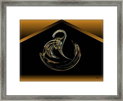 Egyptian Asp Framed Print by John Pangia