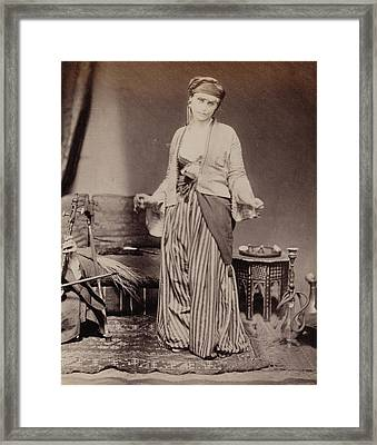 Egyptian Dancing Girl Roger Fenton, English Framed Print by Litz Collection