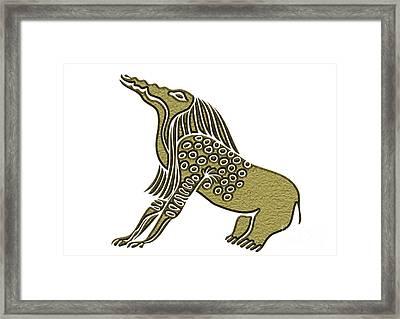 Egyptian Demon - Bone Eater Framed Print by Michal Boubin