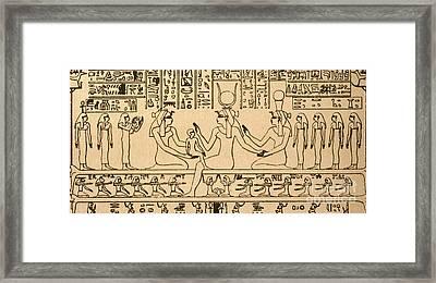 Egyptian Fresco Framed Print