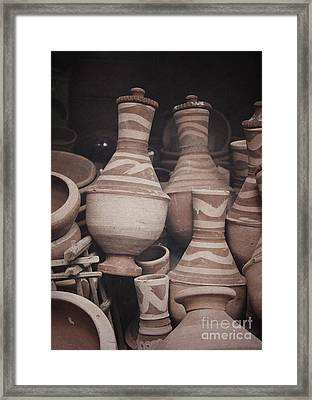 Framed Print featuring the photograph Egyptian Hand Made Traditional Bowl Of Cold Water by Mohamed Elkhamisy