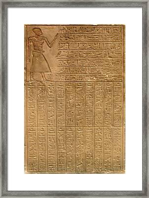 Egyptian Hieroglyphics Framed Print