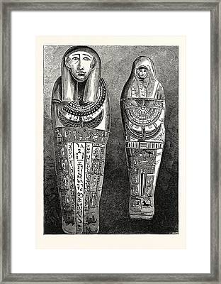 Egyptian Mummy And Case In The British Museum Framed Print