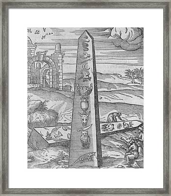 Egyptian Obelisks, 16th Century Framed Print by Science Photo Library