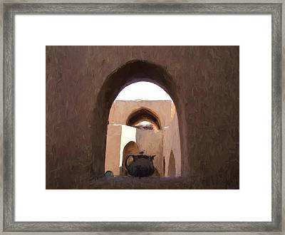 Egyptian Pitcher Framed Print by Heidi Yanulis