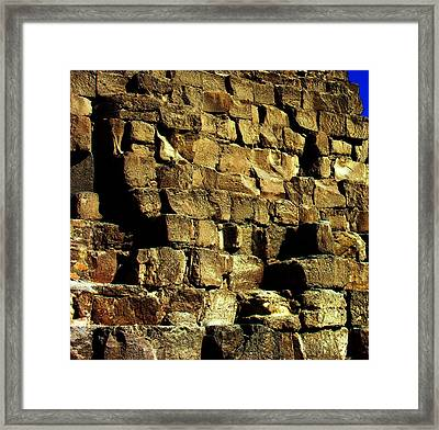 Giza Pyramid - Detail Framed Print by Jacqueline M Lewis
