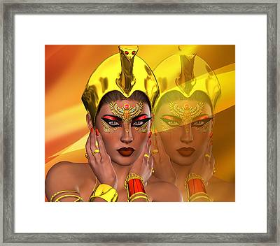 Egyptian Reflections Framed Print by Timothy Kurtis