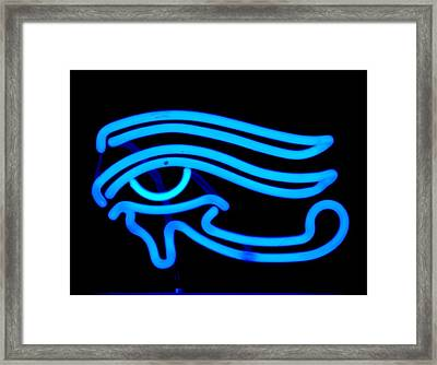 Egyptian Secret Eye Framed Print by Pacifico Palumbo
