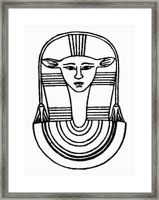 Egyptian Symbol Hathor Framed Print by Granger