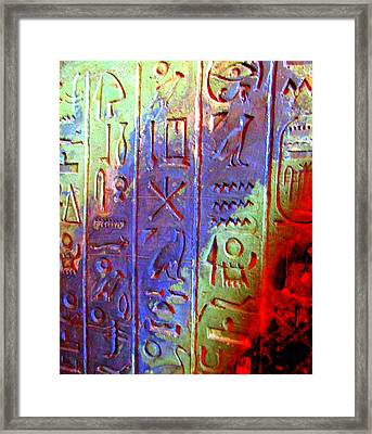 Egyptian Symbols Framed Print