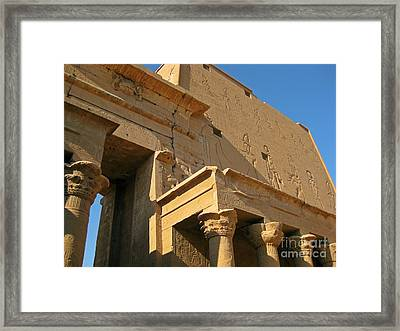 Egyptian Temple Architectural Detail Framed Print by John Malone