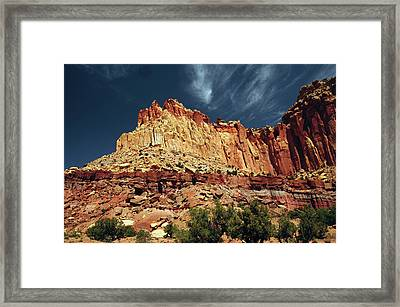 Egyptian Temple In The Morning, Scenic Framed Print by Michel Hersen