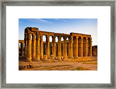 Egyptian Temple Ruins In Luxor Framed Print by Mark E Tisdale