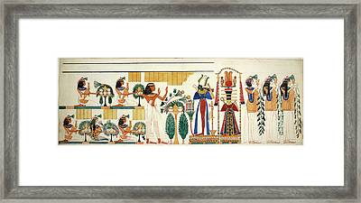 Egyptian Tomb Wall-painting Framed Print by British Library