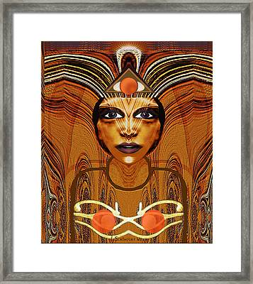 055 - Egyptian Woman Warrior Magic   Framed Print by Irmgard Schoendorf Welch