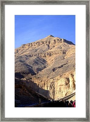 Egypt's Valley Of The Kings Framed Print by Brenda Kean