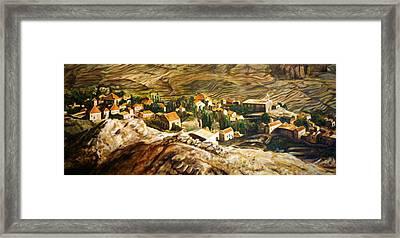 Ehden Lebanon Framed Print by Lyndsey Hatchwell