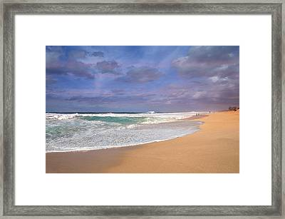 Ehukai Beach Framed Print