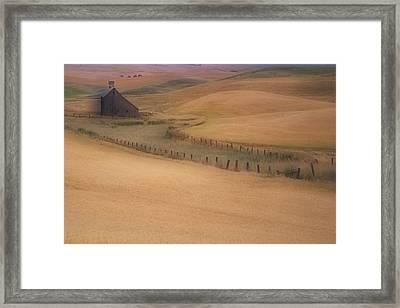 Eid Road Barn Framed Print by Latah Trail Foundation