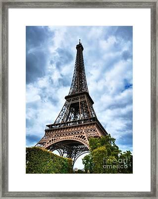 Eiffel Tower In Paris Framed Print