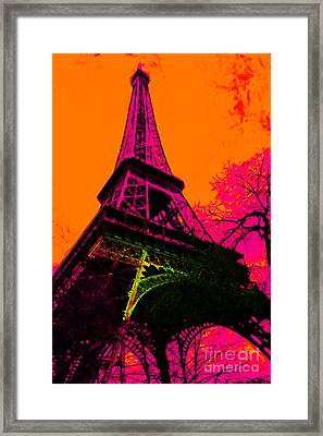 Eiffel 20130115v1 Framed Print by Wingsdomain Art and Photography