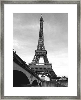 Eiffel Classic Framed Print by Kathy Corday