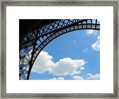 Eiffel Clouds Framed Print by Kathy Corday