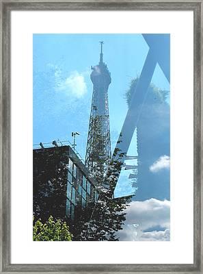 Eiffel Collage Framed Print by Kathy Corday