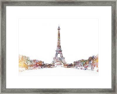 Eiffel Color Splash Framed Print by Aimee Stewart