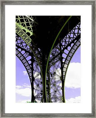 Eiffel Lace Framed Print by Kathy Corday