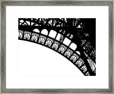 Eiffel Metal Crochet  Framed Print