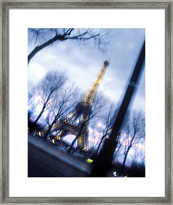 Eiffel On The Move Framed Print by Mike McGlothlen