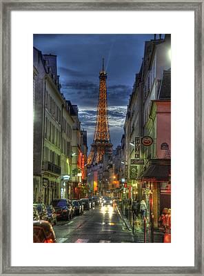 Eiffel Over Paris Framed Print