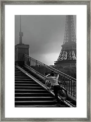 Eiffel Framed Print by Sol Marrades