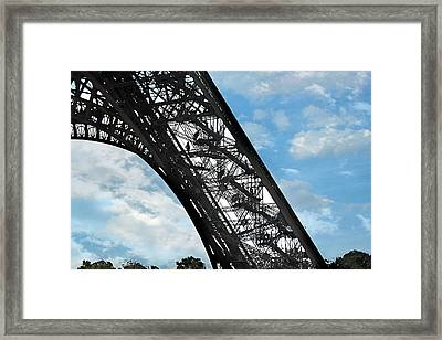 Eiffel Stairs Framed Print by Lorella  Schoales